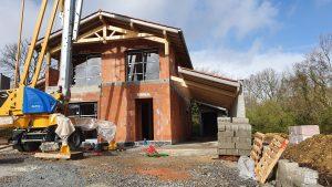 Maison neuve en brique au Pays basque